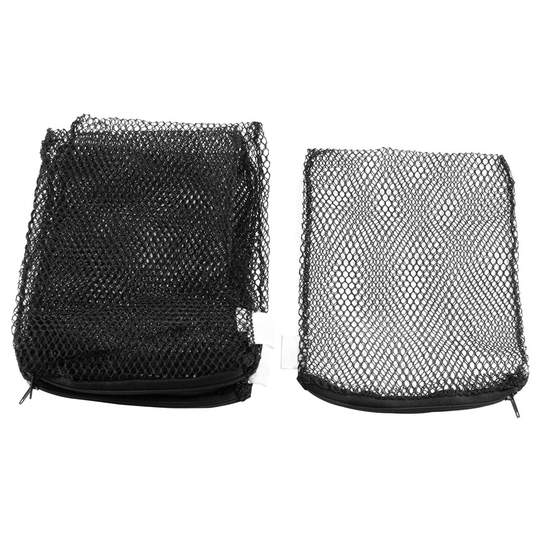 5pcs Zipper Closure Black Nylon Aquarium Fry Fish Isolation Media Mesh Net Bags Feeder 210mm x 155mm