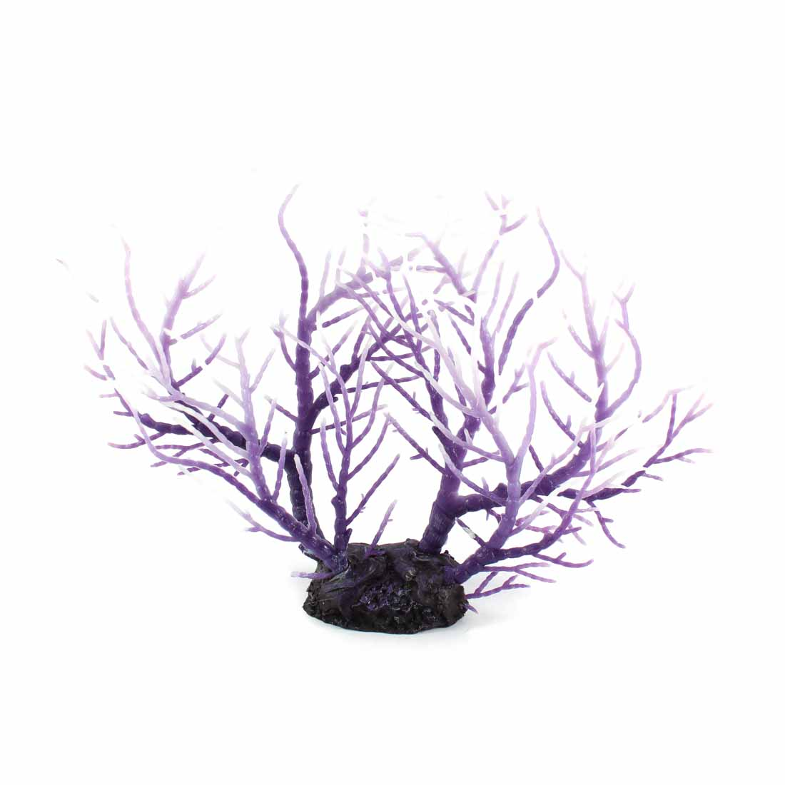 Fishbowl Aquarium Purple Plastic Artificial Underwater Plant Coral Sea Anemone Ornament 20.5cm Height