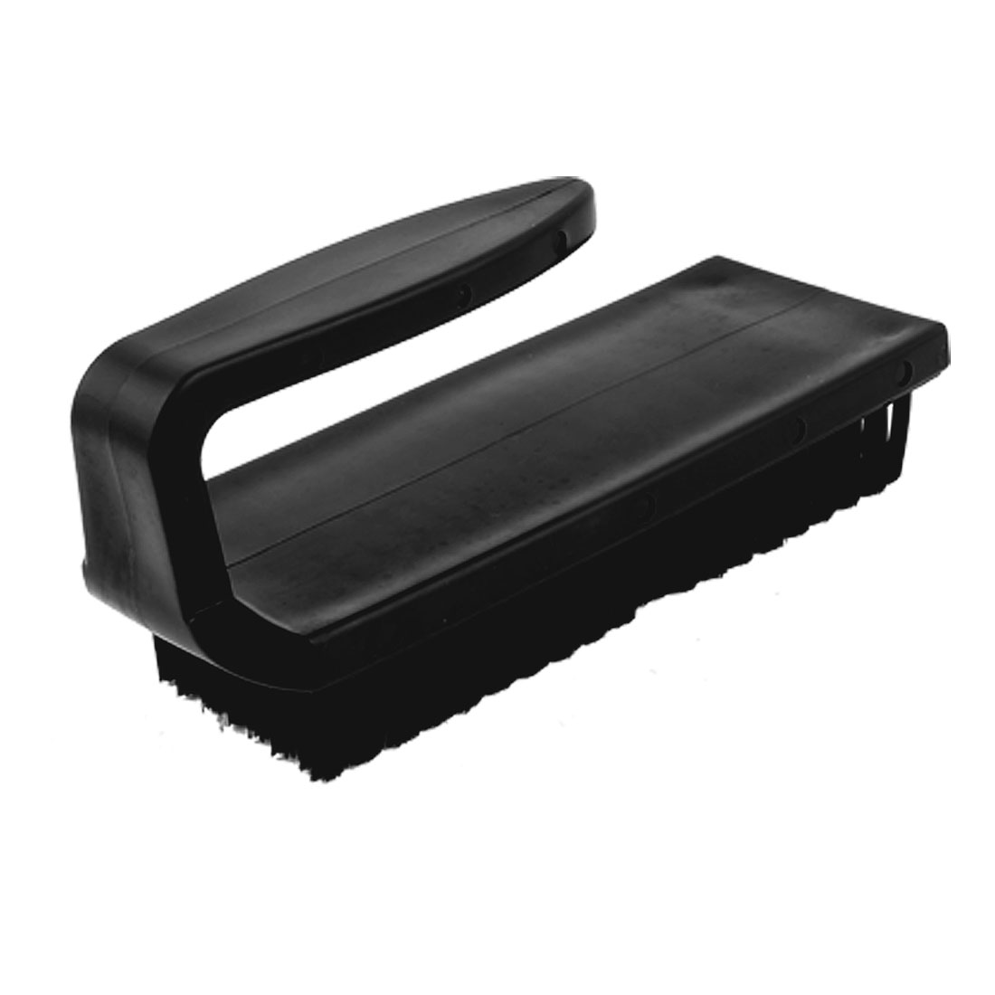 17.8 x 6.5cm U Type Black Plastic Handle Static Rework ESD Anti-Static Brush Cleaning Tool Comb