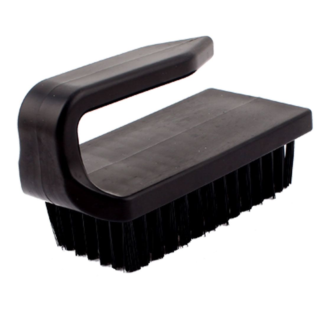 Plastic U Shape Black Handle Anti Static Control Conductive Ground Cleaning Brush Tool