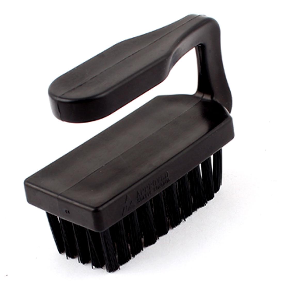 9 x 3.8cm U Type Black Plastic Handle Anti-Static Brush Cleaning Tool Comb