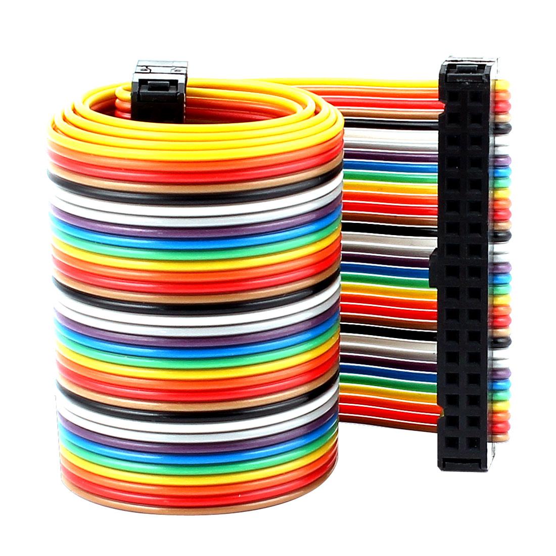 48cm 34pin 2.54mm Female to Female Breadboard IDC Wire Cable