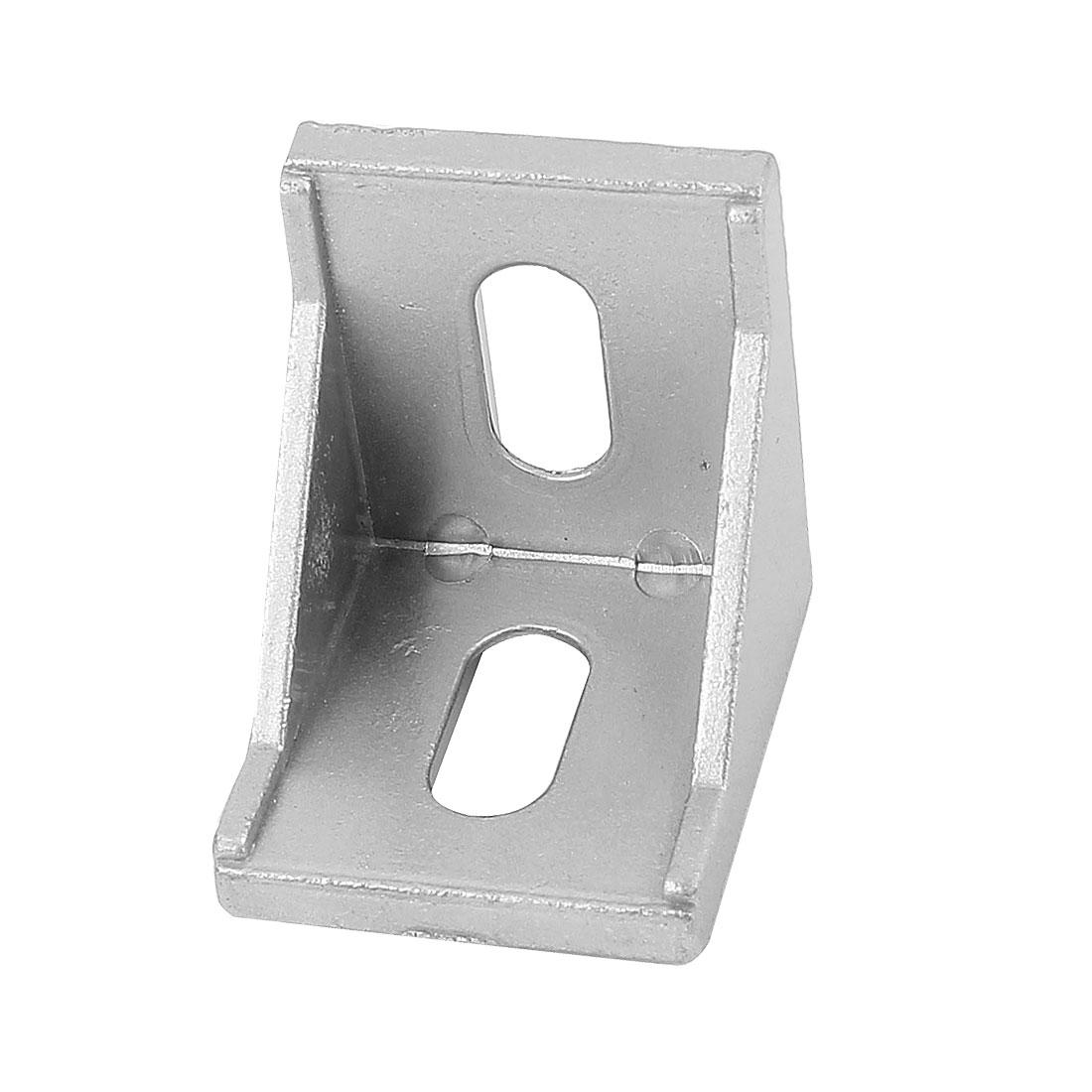 Aluminum Alloy Corner Brace Angle Bracket Support 40x40x35mm Silver Tone