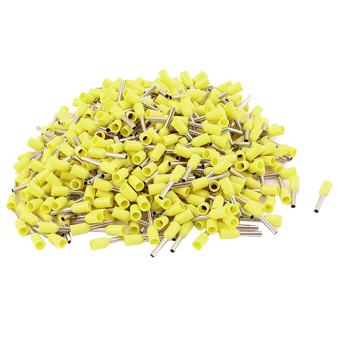 470pcs Wire Crimp Connector Pin End Insulated Terminal Yellow for Cable AWG 18