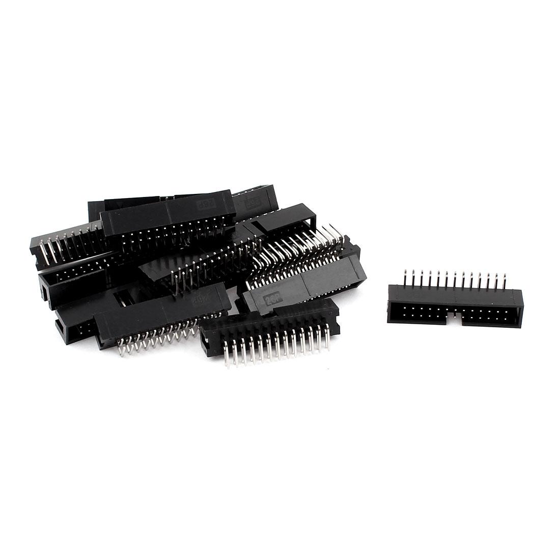 16Pcs 2x13 26-Pin Box Header Connector IDC Male Sockets Right Angle 2.54mm