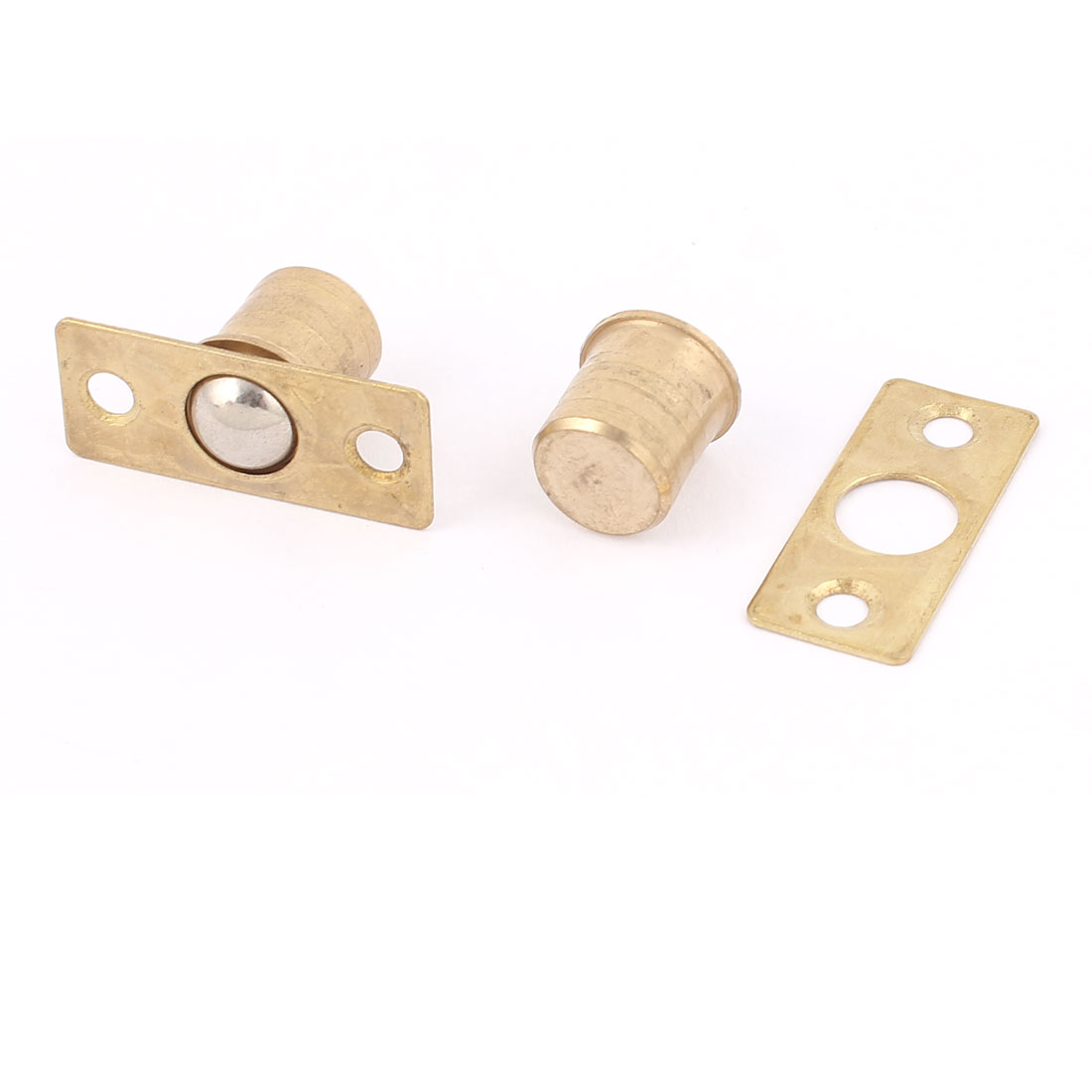 4Set Gold Tone Hardware Closet Door 9mm x 14mm Ball Catch Latch Catcher