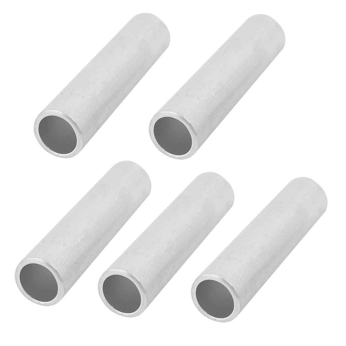 5Pcs Aluminium Tubular Inline Straight Connector Joint 21 x 27 x 111mm