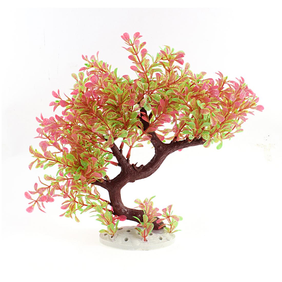 Plastic Colorful Style Artificial Aquarium Decoration Plant Ornament