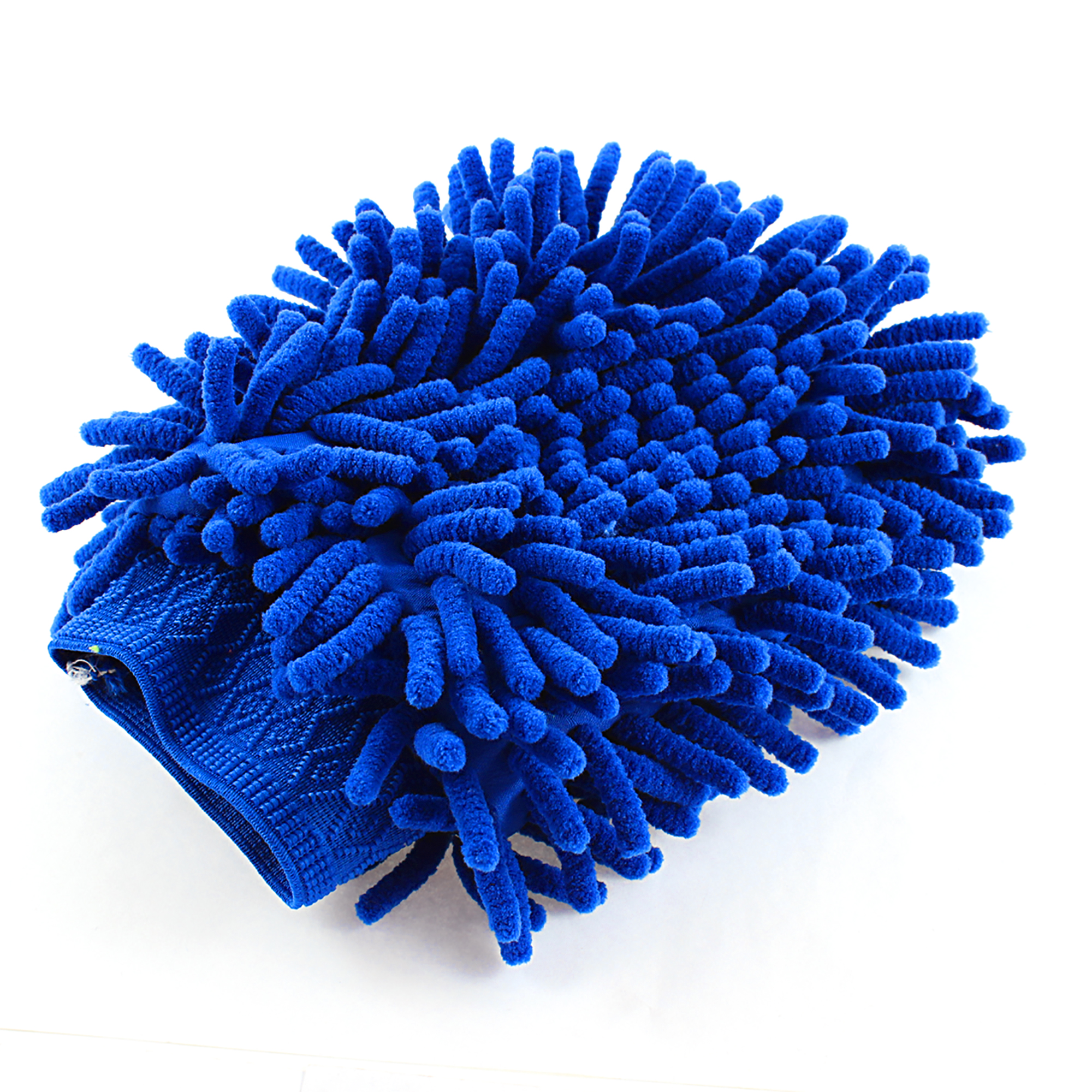 Car Auto Vehicle Cleaning Washing Microfiber Chenille Mitt Glove Blue