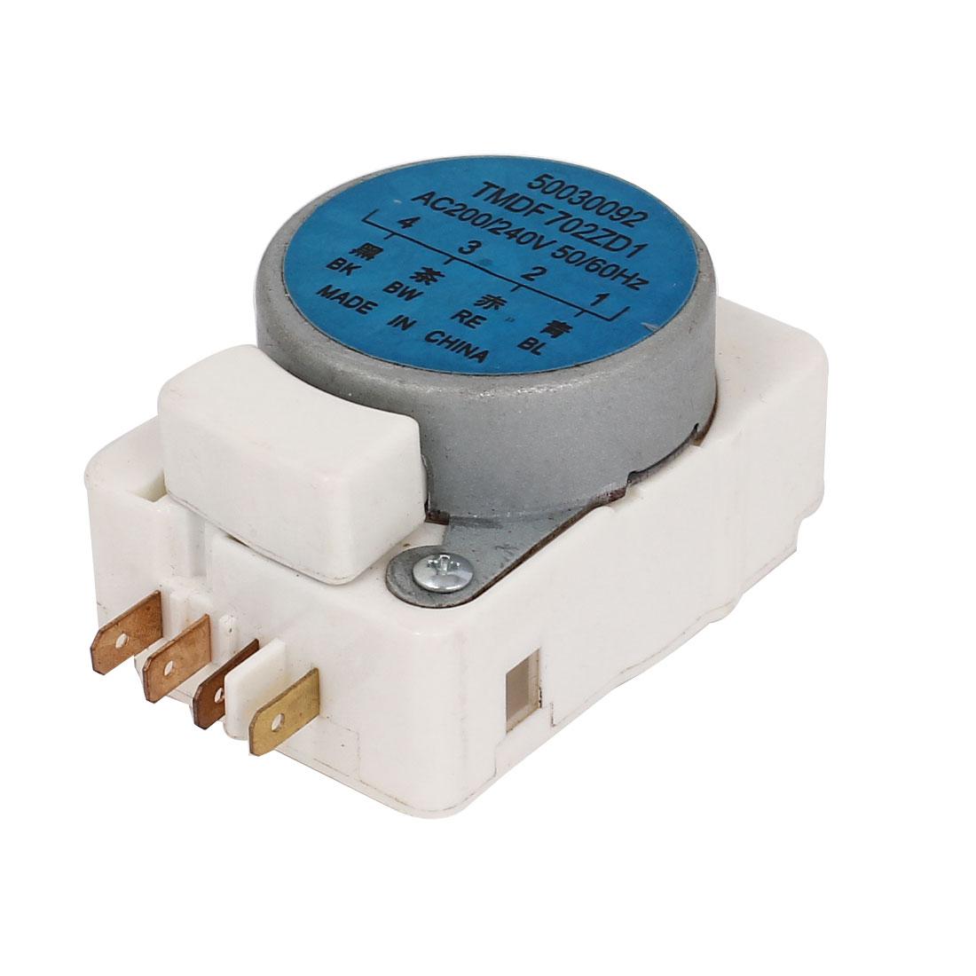AC 200/240V 50/60Hz TMDF702ZD1 4 Terminals Refrigerator Defrost Timer