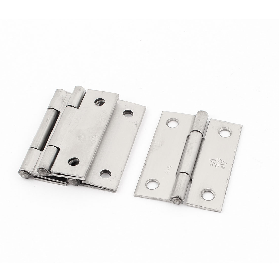"4Pcs Stainless Steel Rectangle Shape Interior Door Butt Hinge Hardware 2"""
