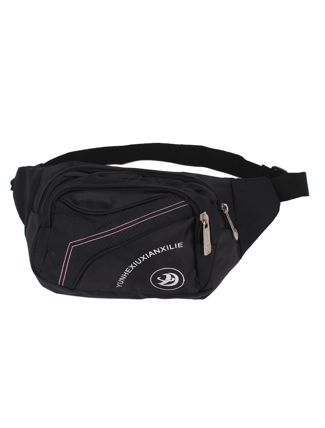 Men Lady Travel Hip Fanny Waist Bag Pack Belt Pouch Purse Black