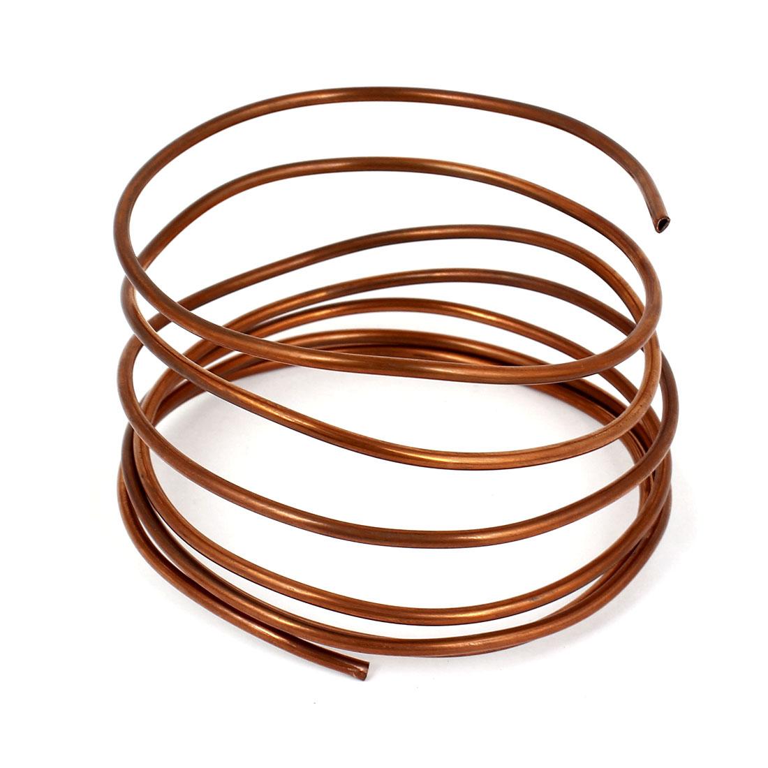 Copper Tone Refrigerator Refrigeration Tubing Coil 3.0mm Dia 2m Length