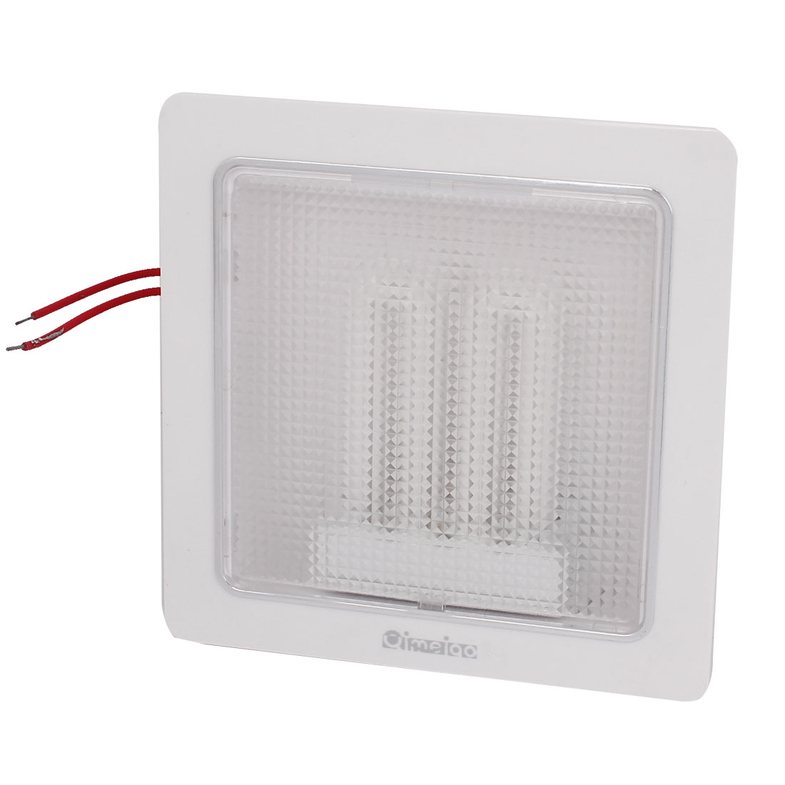 AC 220V 14cm x 14cm Square Recessed Mount White Ceiling Panel Lamp Downlight Bulb