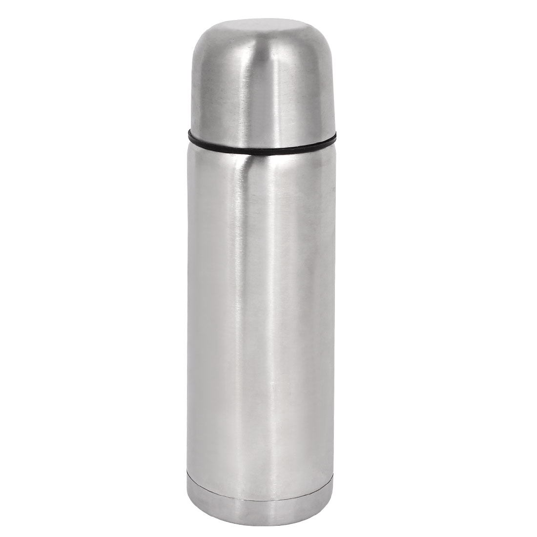 Travel 500ml Vacuum Heat Retaining Flask Water Stainless Steel Cup Silver Tone
