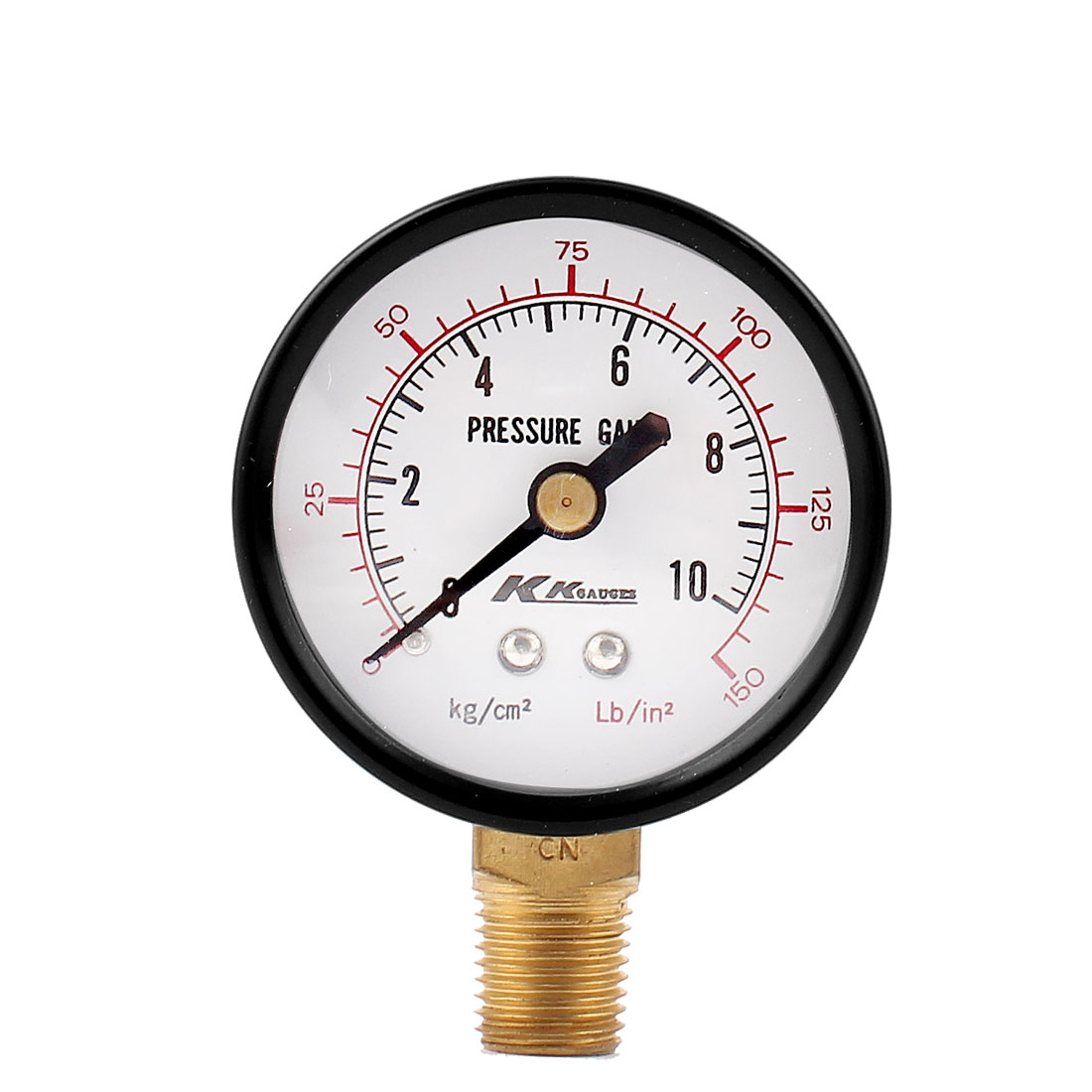 13mm 1/4BSP Male Thread Horizontal Mount Water Air Compressor Pressure Gauge Meter 0-150PSI 10kg/cm2