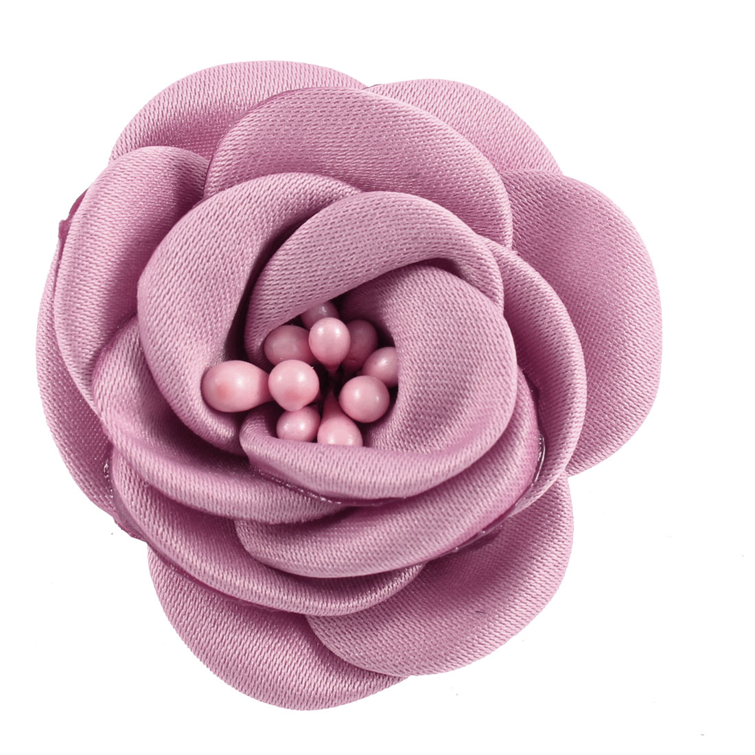 Lady Parties Wedding Fabric Flower Shape Corsage Brooch Pin Pink