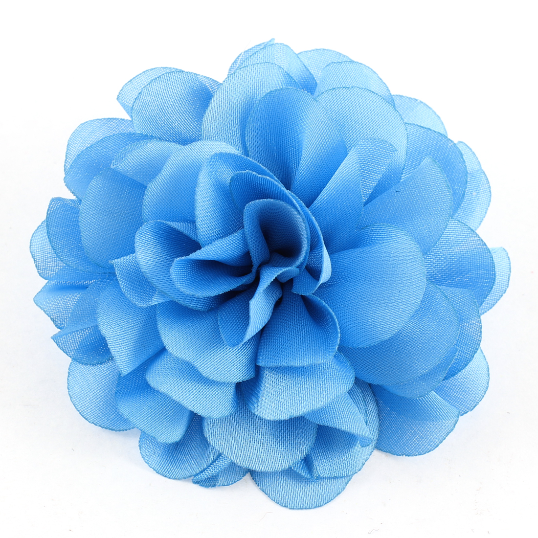 Woman Clothes Ornament Floral Design Flower Corsage Brooch Pin Blue