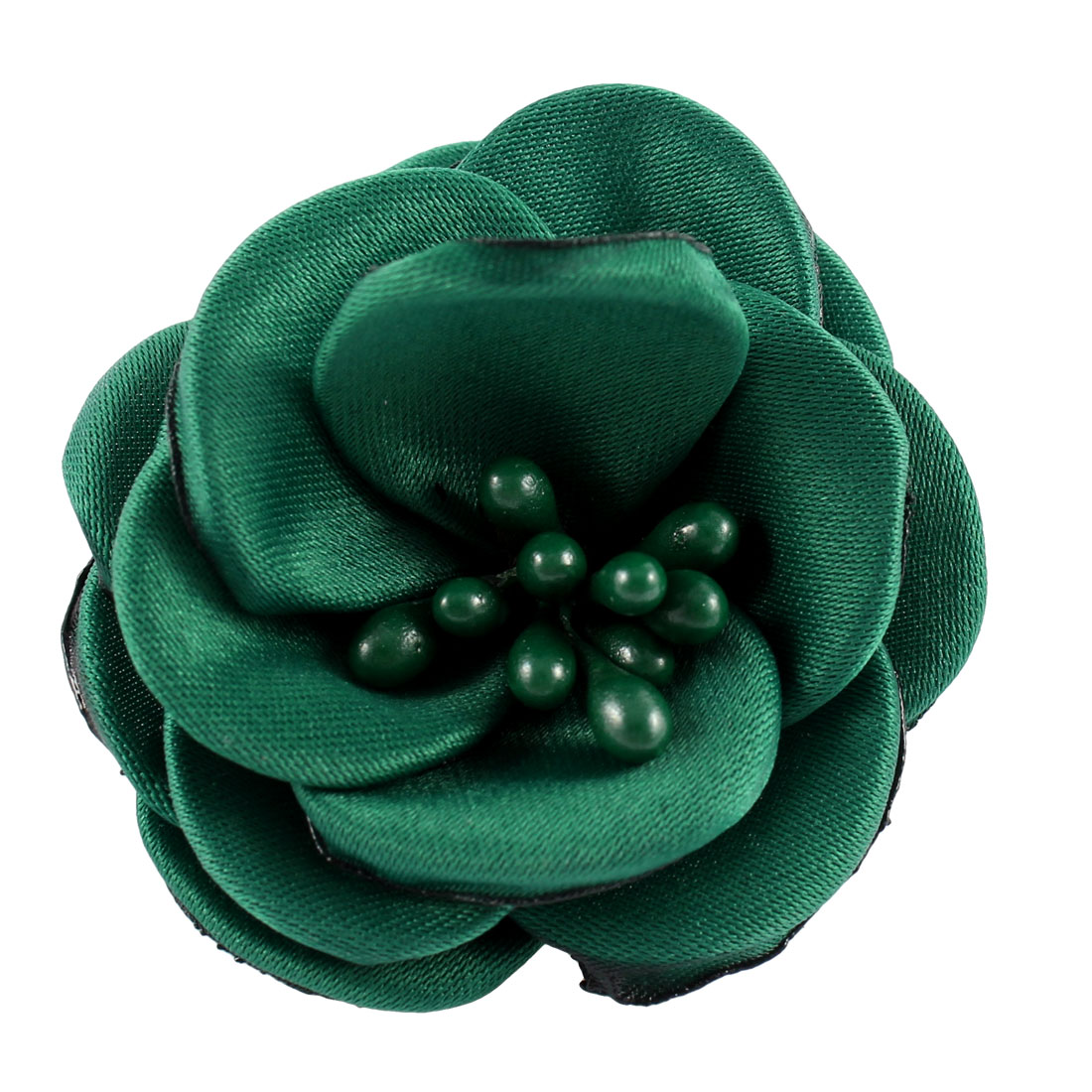 Lady Parties Wedding Fabric Flower Shape Corsage Brooch Pin Green