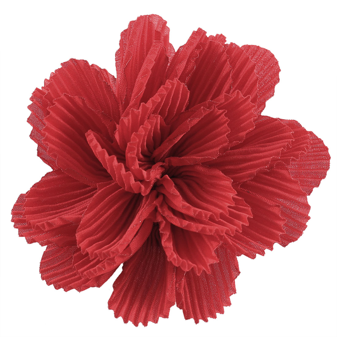 Parties Wedding Fabric Flower Design Corsage Brooch Pin for Lady Red
