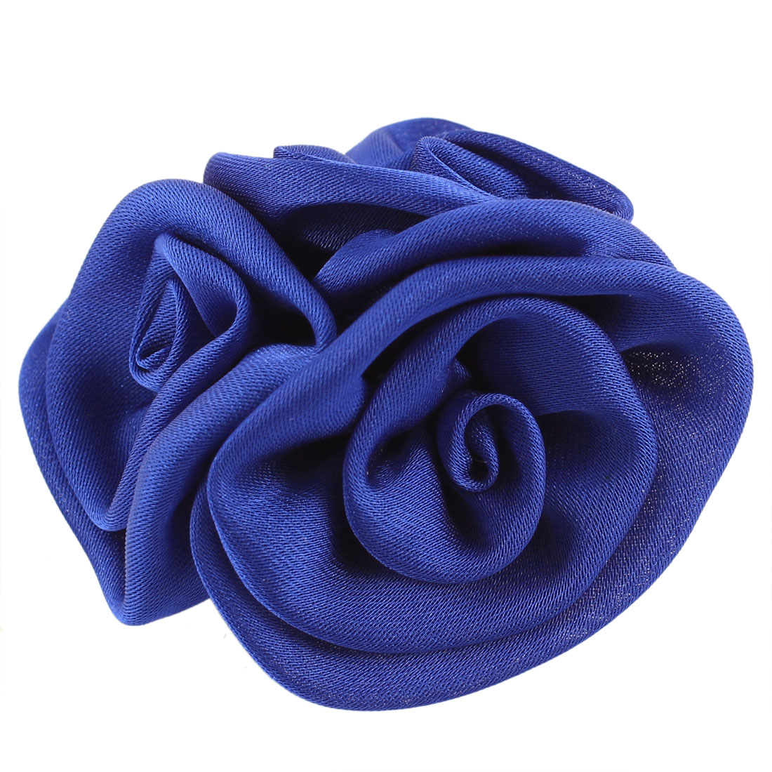 Lady Clothes Ornament Floral Design Flower Corsage Brooch Pin Blue