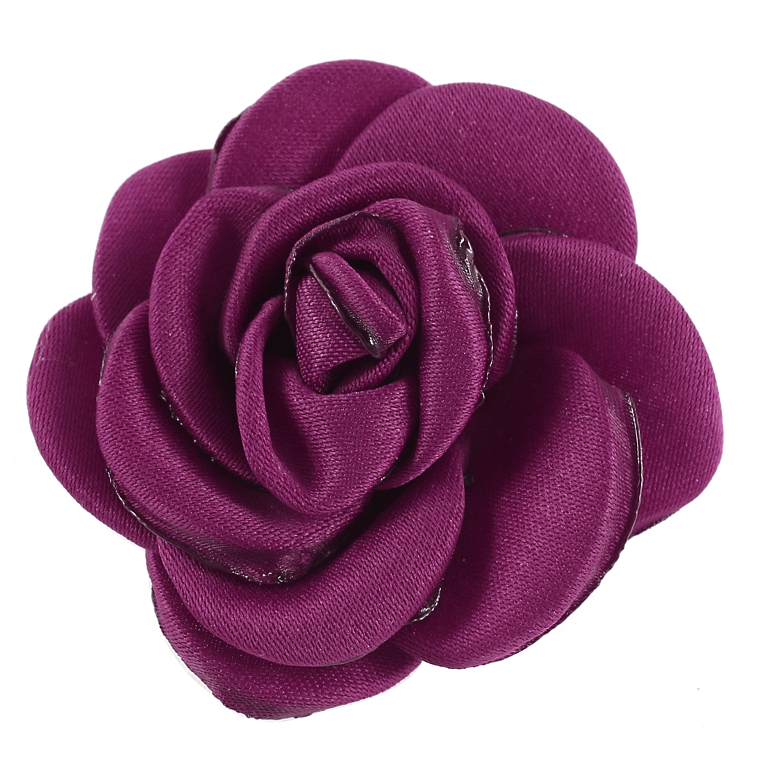 Parties Wedding Fabric Flower Shape Corsage Brooch Pin Red for Lady