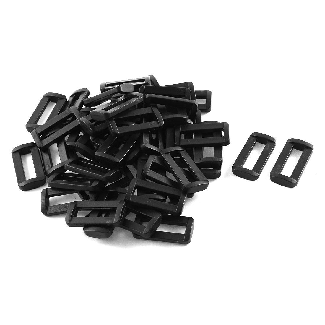 """50pcs Black Plastic Bar Slides Buckles for 1"""" Webbing Strap"""
