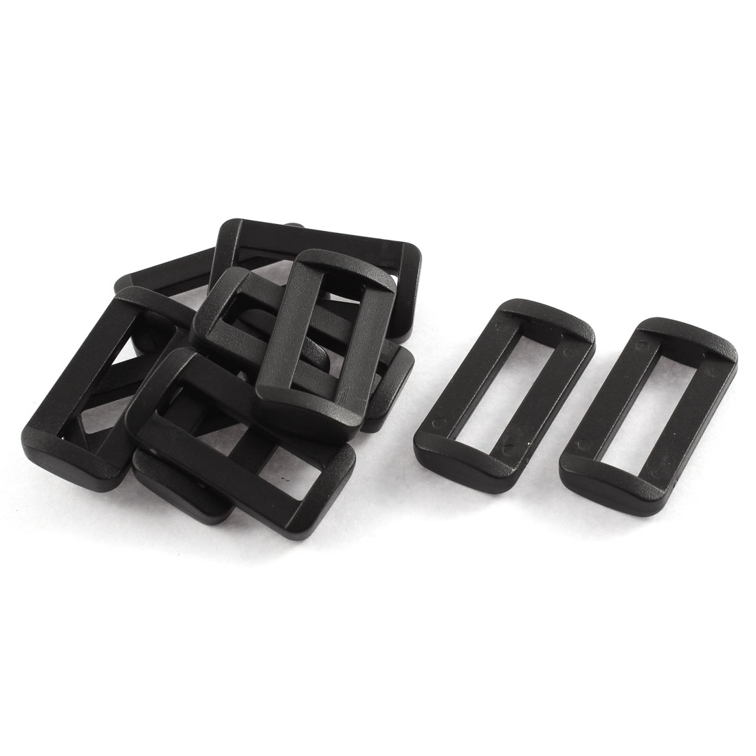 "10pcs Black Plastic Bar Slides Buckles for 1"" Webbing Strap"