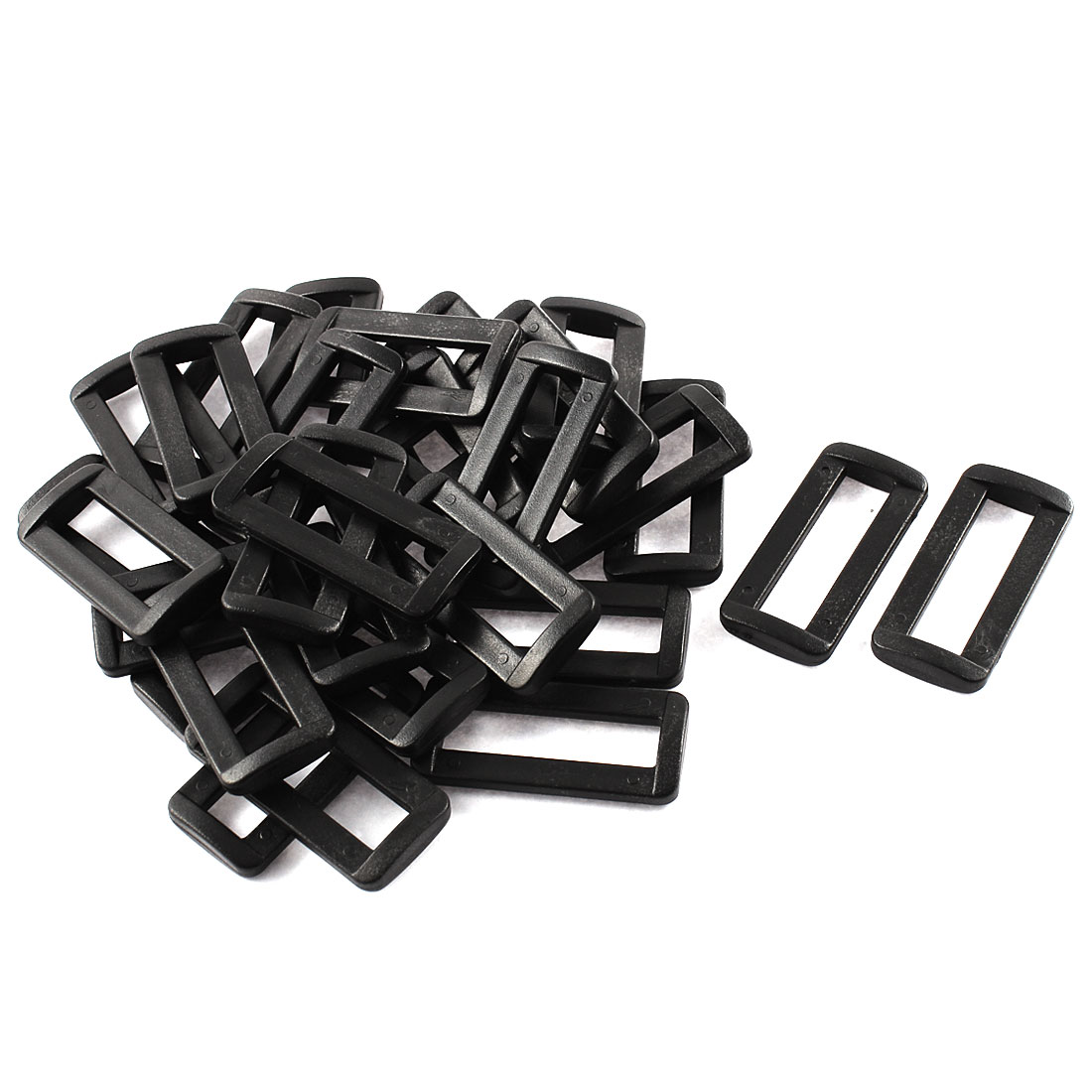 "30pcs Black Plastic Bar Slides Buckles for 1.5"" Webbing Strap"