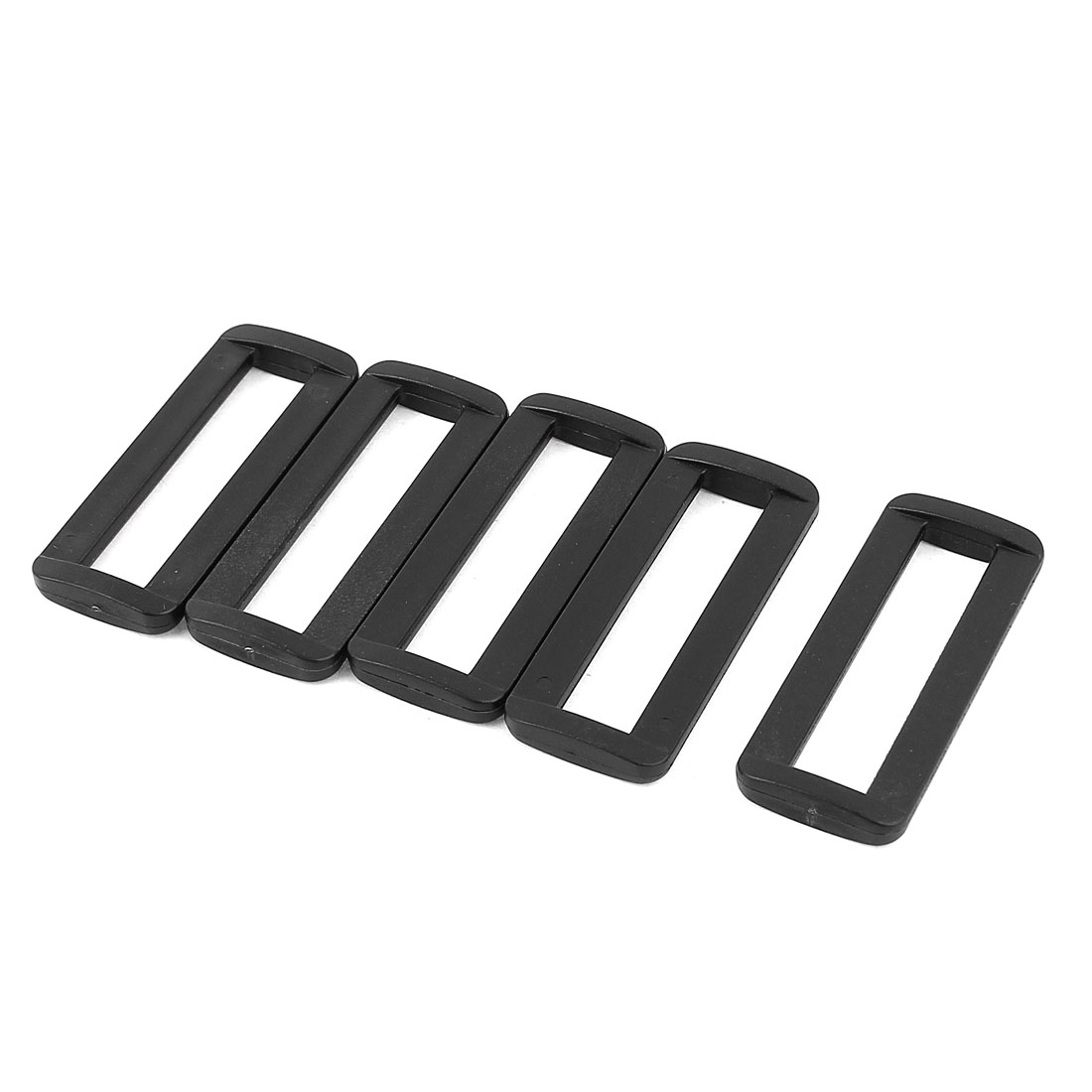 5 Pcs Black Plastic Bag Bar Slides Buckles for 50mm Webbing Strap