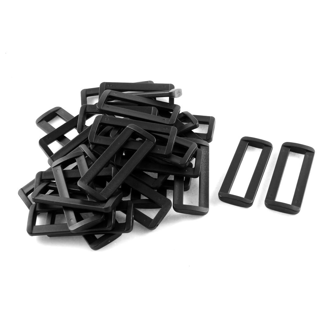 """30pcs Black Plastic Bar Slides Buckles for 2"""" Webbing Strap"""