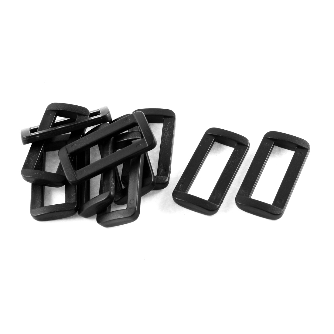 10pcs Black Plastic Bar Slides Buckles for 32mm Webbing Strap