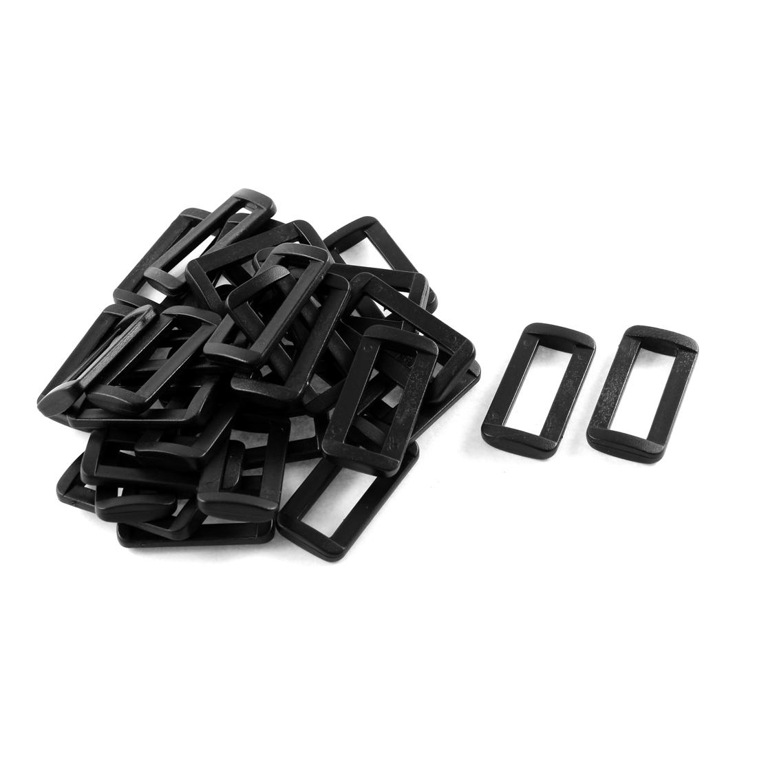 30pcs Black Plastic Bar Slides Buckles for 32mm Webbing Strap