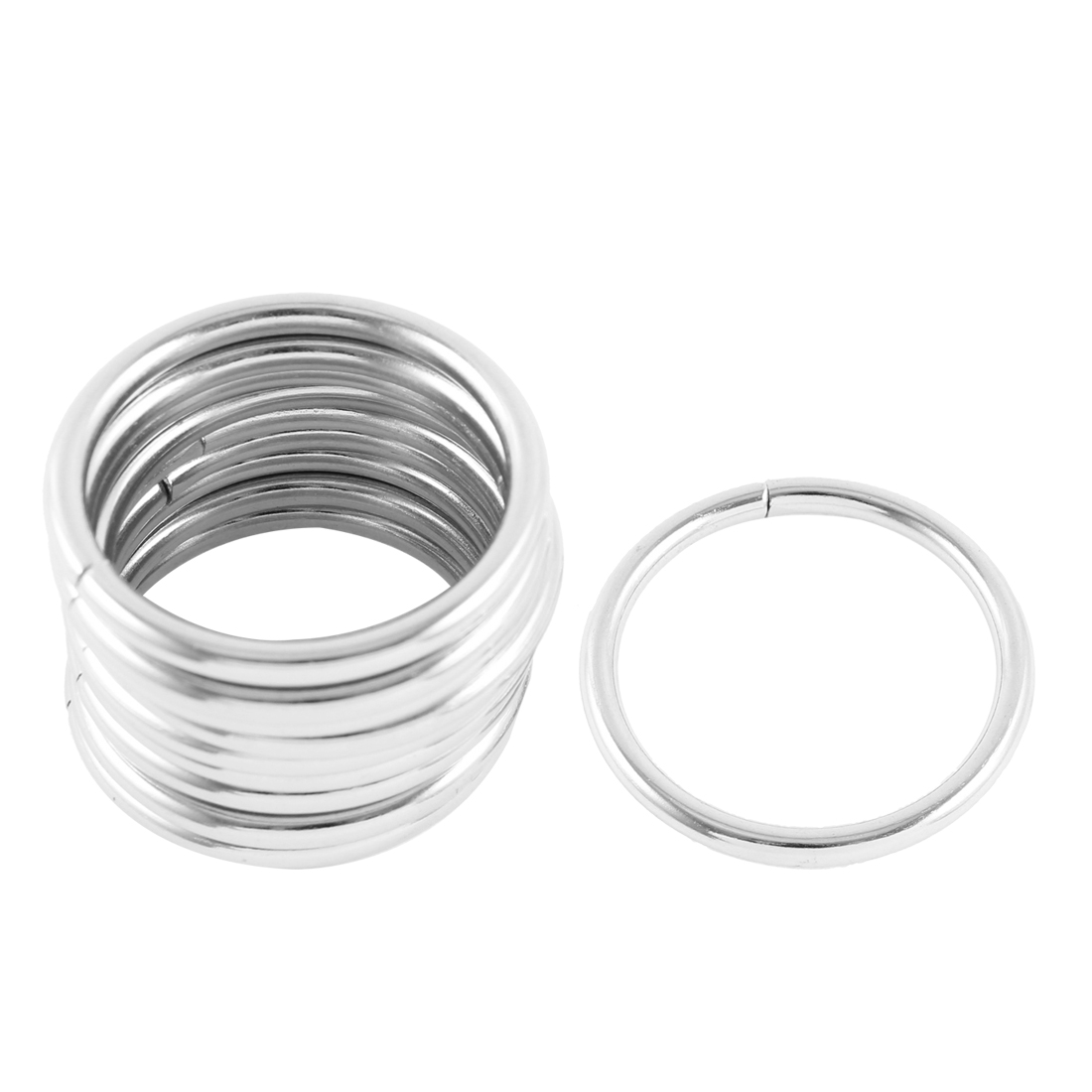 """10 Pcs Silver Tone Metal O Rings Craft 2"""" for Webbing Strapping Belt"""