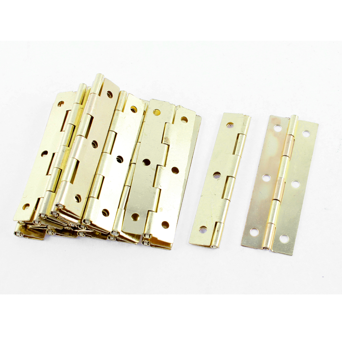 Cupboard Cabinet Gold Tone Rotatable Foldable Door Hinges Hardware 20 Pcs