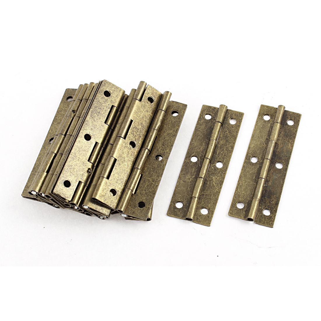 20 Pcs Brown Tone Rotatable Screw Mounted Door Hinges Hardware 20 x 60cm