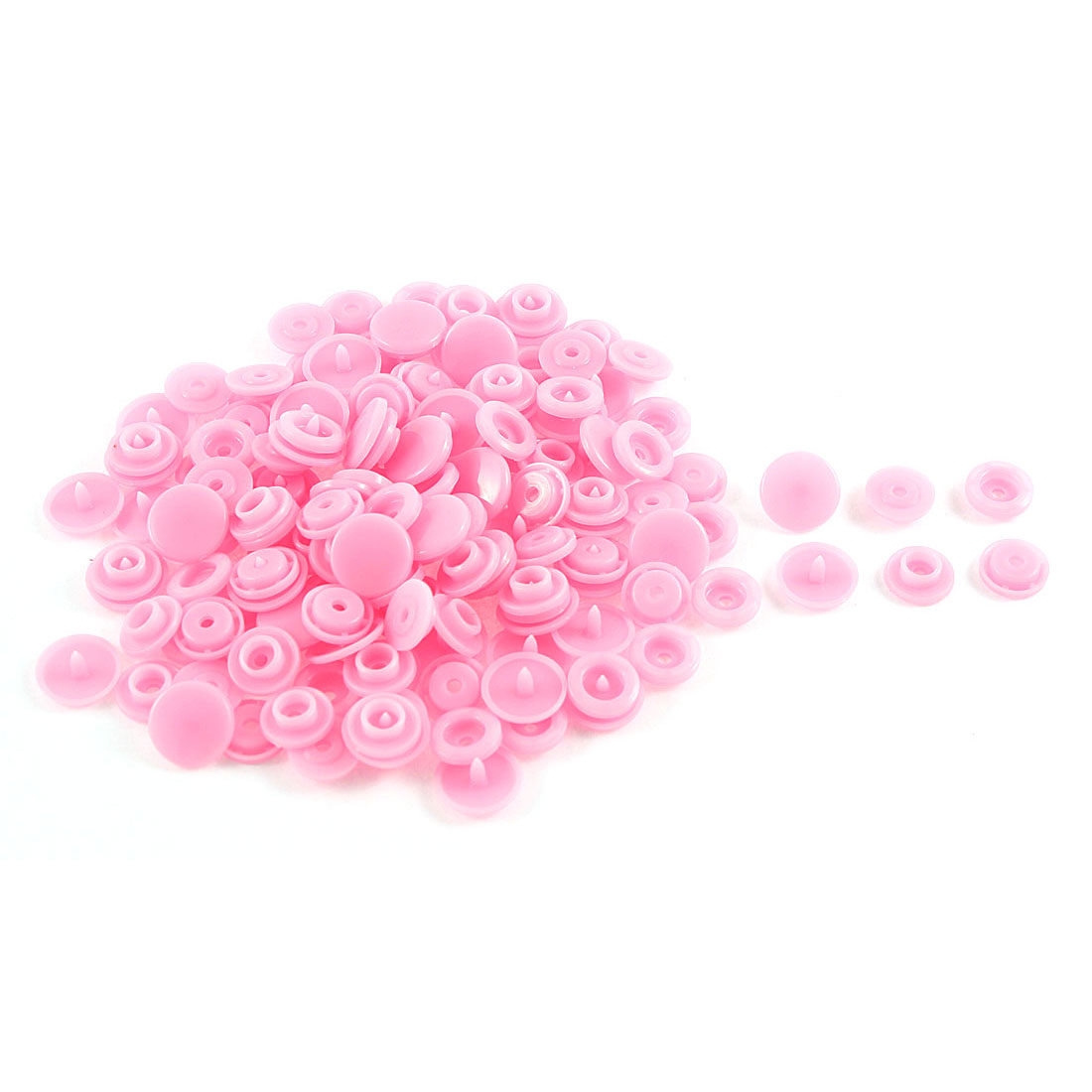 50 Pcs DIY Sewing Dress Press Fastener Buttons Popper Stud Pink