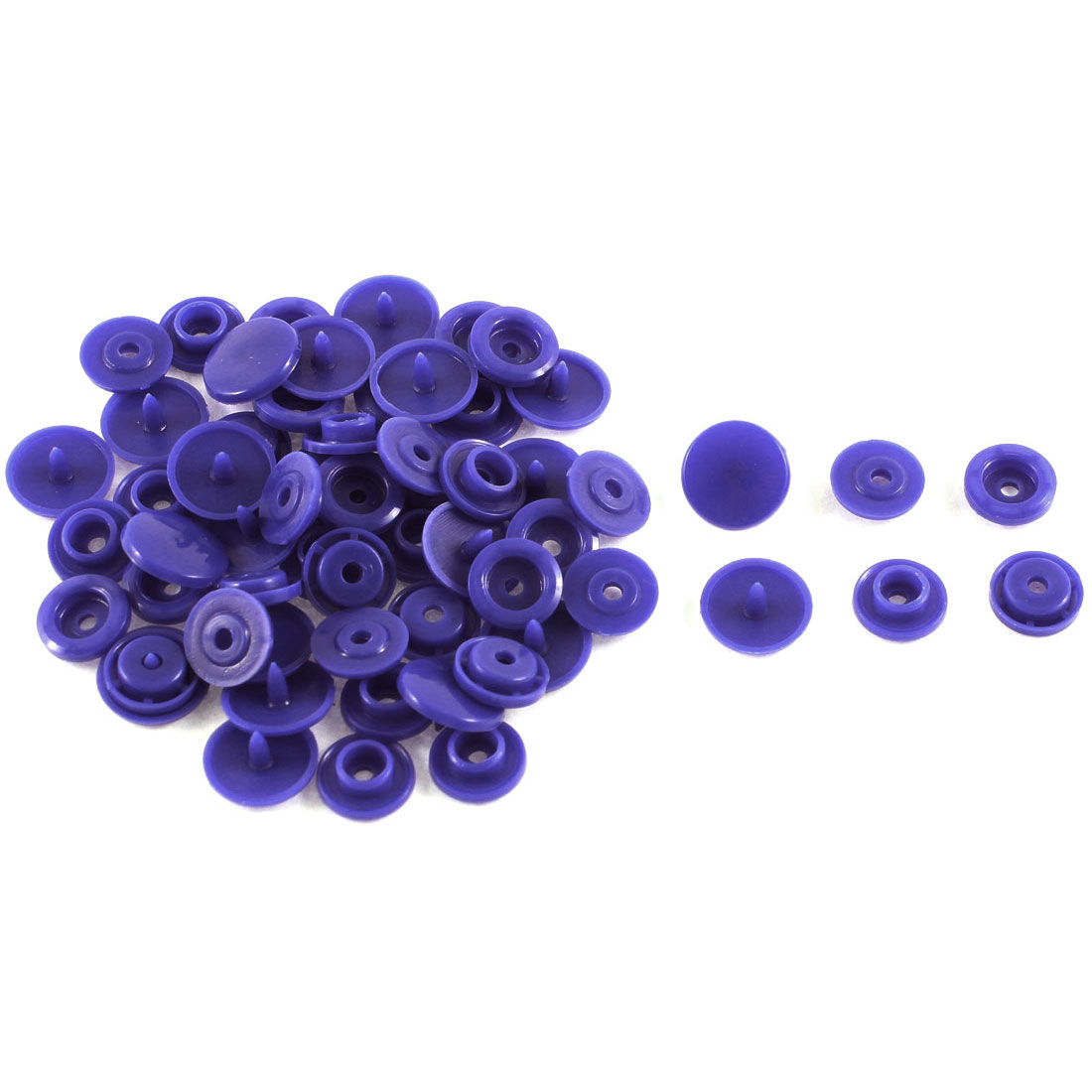 20 Pcs Dark Blue Plastic Sewing Snap Clothes Craft Press Fastener Buttons