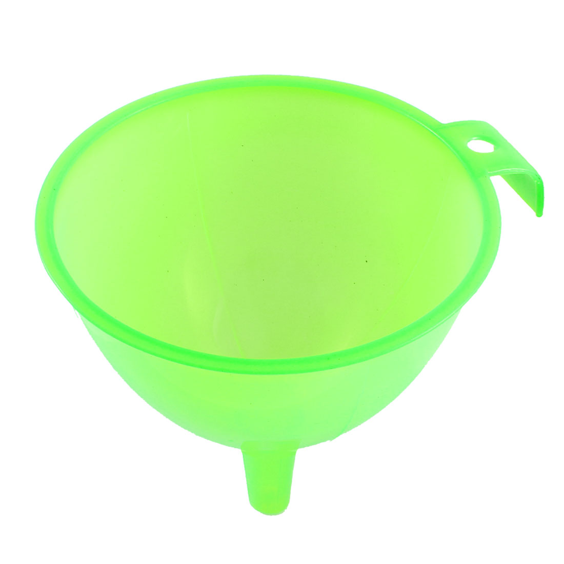 "5.7"" Diameter Clear Green Plastic Handle Water Refilling Oil Fuel Funnel Filter"