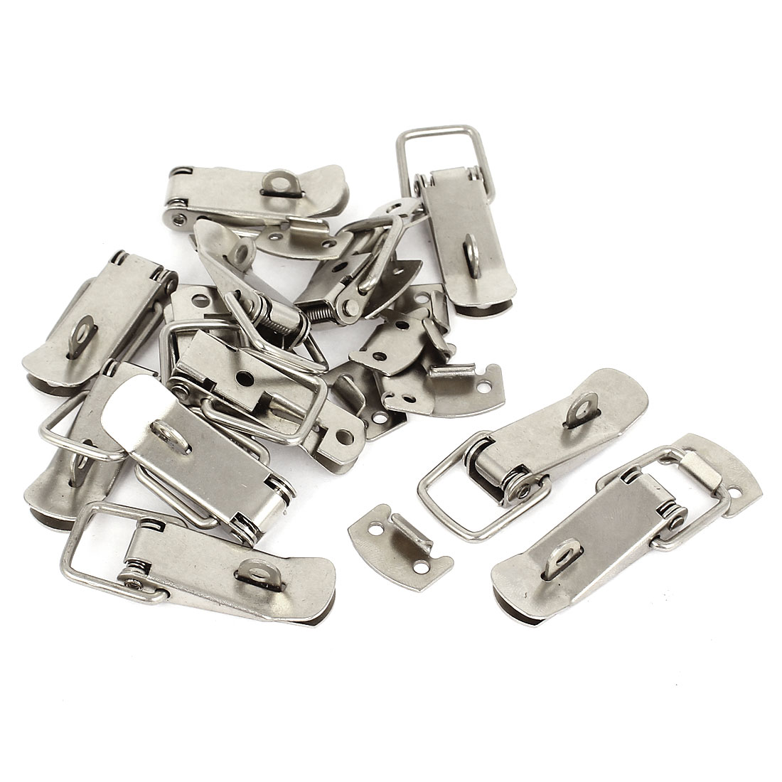 12pcs Toolbox Chest Case Lockable Fastening Toggle Latch w Catch Plate