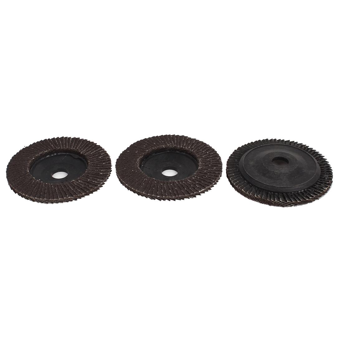 "3pcs 100mm 4"" Dia 16mm Bore 60 Grit Flap Sanding Discs Polishing Buffing Wheels"