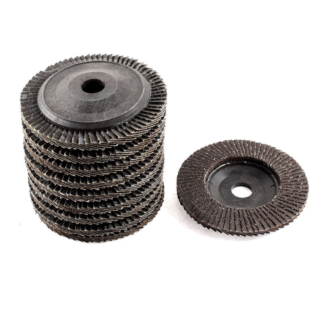 "10pcs 4"" x 5/8"" Zirconium Oxide Flap Sanding Discs Polish Grinding Wheel 60 Grit"