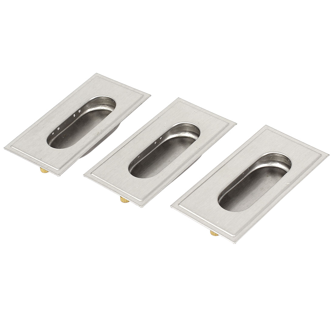 Sliding Door Drawer 79 x 42mm Stainless Steel Recessed Flush Pull Handle 3pcs