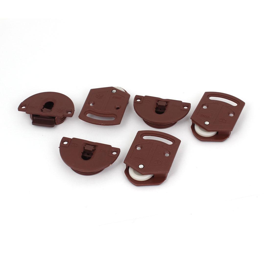 Wardrobe Cupboard Sliding Door Roller Gear Track Panel Internal Kit 3 Pairs