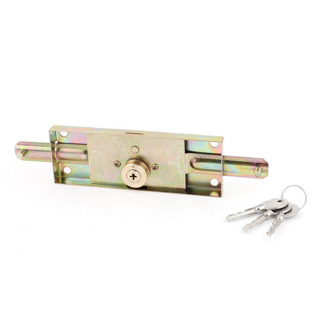 Brass Tone Metal Security Locking Locker Roller Rolling Gate Door Lock for Store Warehouse Garage