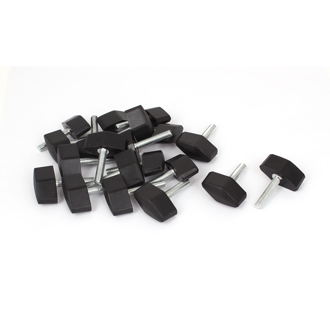 M6 x 30mm Thread Screw Rotating Adjustable Clamping Handle Knob 20 Pcs