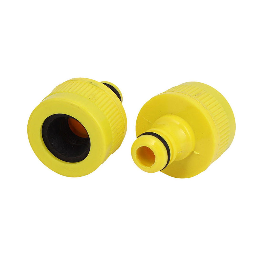 Garden Water Spray Gun Plastic Quick Fitting Connector 2pcs for 16mm Dia Hose