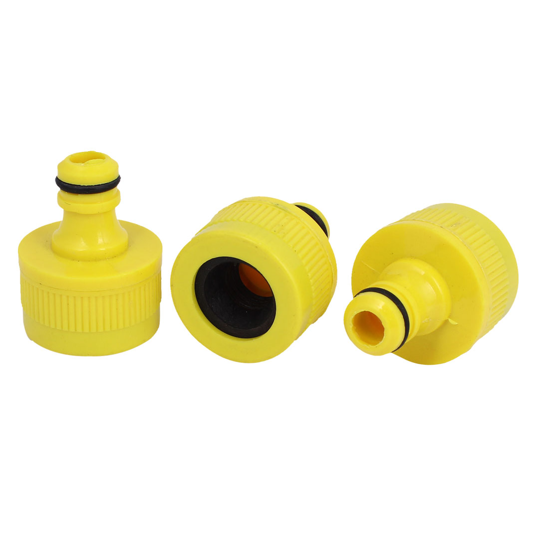Garden Water Spray Gun Plastic Quick Fitting Connector 3pcs for 16mm Dia Hose