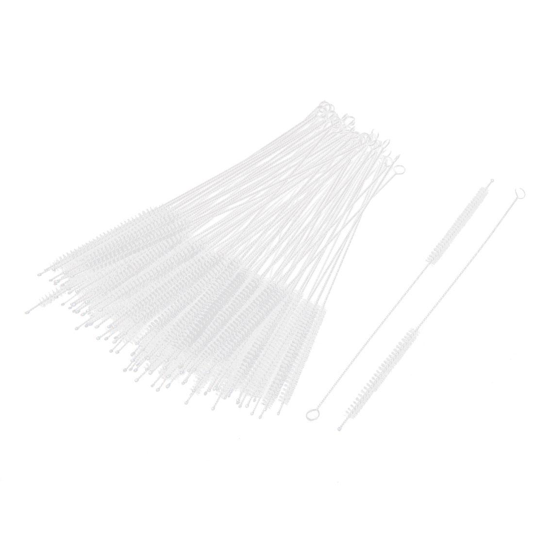 3mm Dia Nylon Twisted Handle Test Tube Pipe Bottle Wash Cleaning Brushes 100pcs