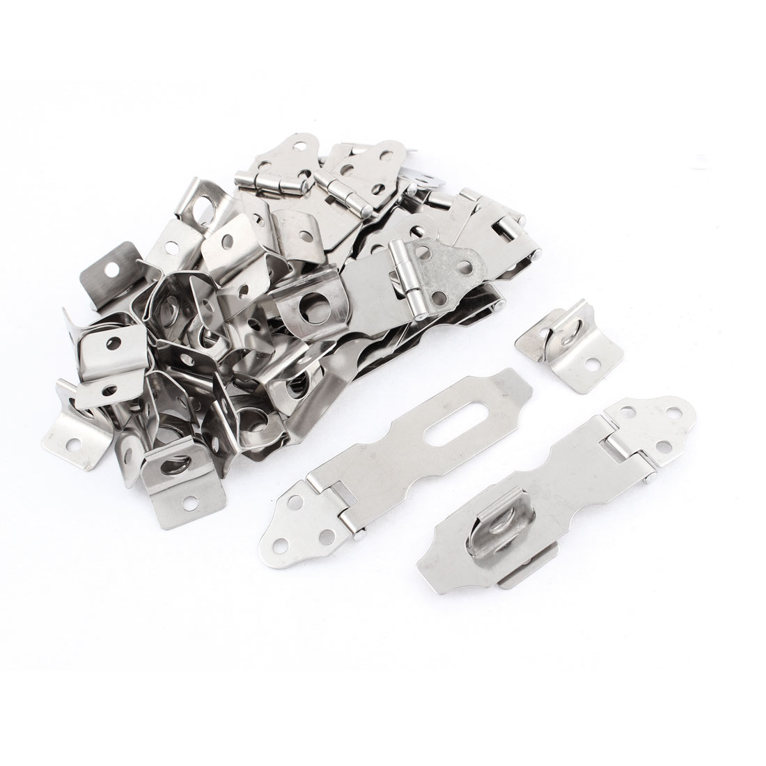 "Warehouse Sheds Gates Door Stainless Steel Padlock Hasp Staple 2.5"" 20pcs"